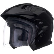 Bell Helmet MAG 9 Sena - glossy black - left side - internal shield up