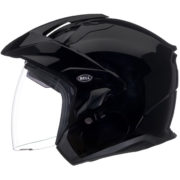 Bell Helmet MAG 9 Sena - glossy black - profile - internal shield up