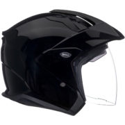 Bell Helmet MAG 9 Sena - glossy black - right side - internal shield up