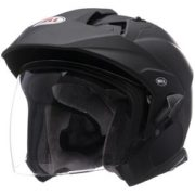 Bell Helmet MAG 9 Sena - matte black - left side - internal shield up