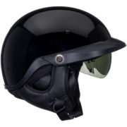 Bell Pit Boss Helmet Glossy Black - right profile - clear shield