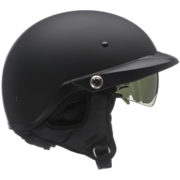 Bell Pit Boss Helmet Matte Black - right profile - clear shield