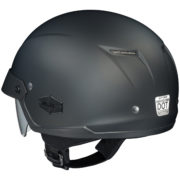 HJC IS Cruiser half helmet matte black left back side
