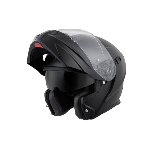 Scorpion EXO GT 920 Modular Helmet flat black - left side shield up