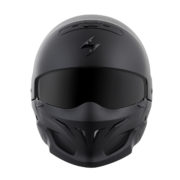 Scorpion covert helmet - front - flat black