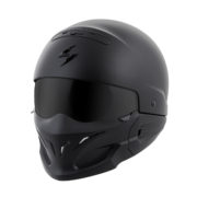 Scorpion covert helmet - front left side - flat black