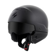 Scorpion covert helmet open face internal shield down matte black