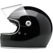 biltwell gringo S helmet gloss black - open shield
