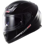 ls2 helmet stream solid black - left side