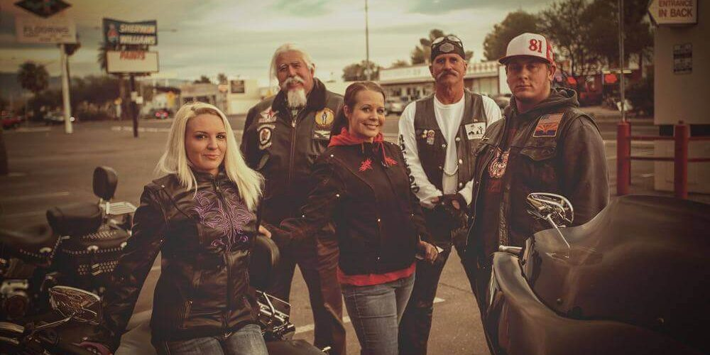 Model shoot on bikes at Renegade Classics Tucson