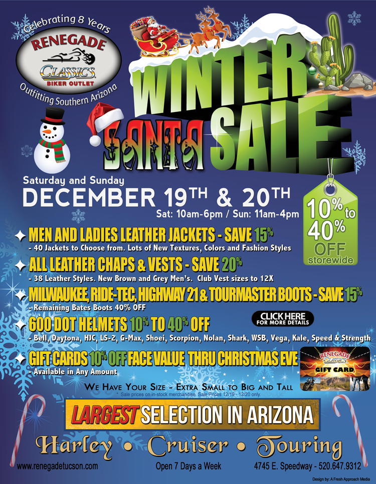 WINTER SANTA SALE IS HERE!