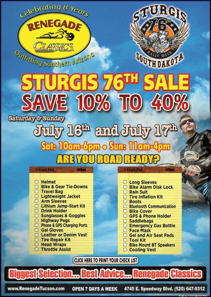 Sturgis 2016 Sale
