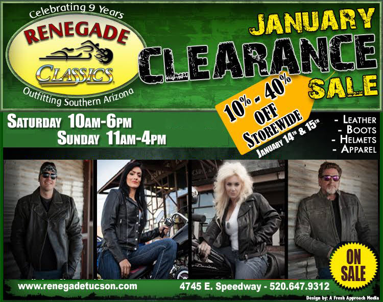 JANUARY CLEARANCE SALE!!