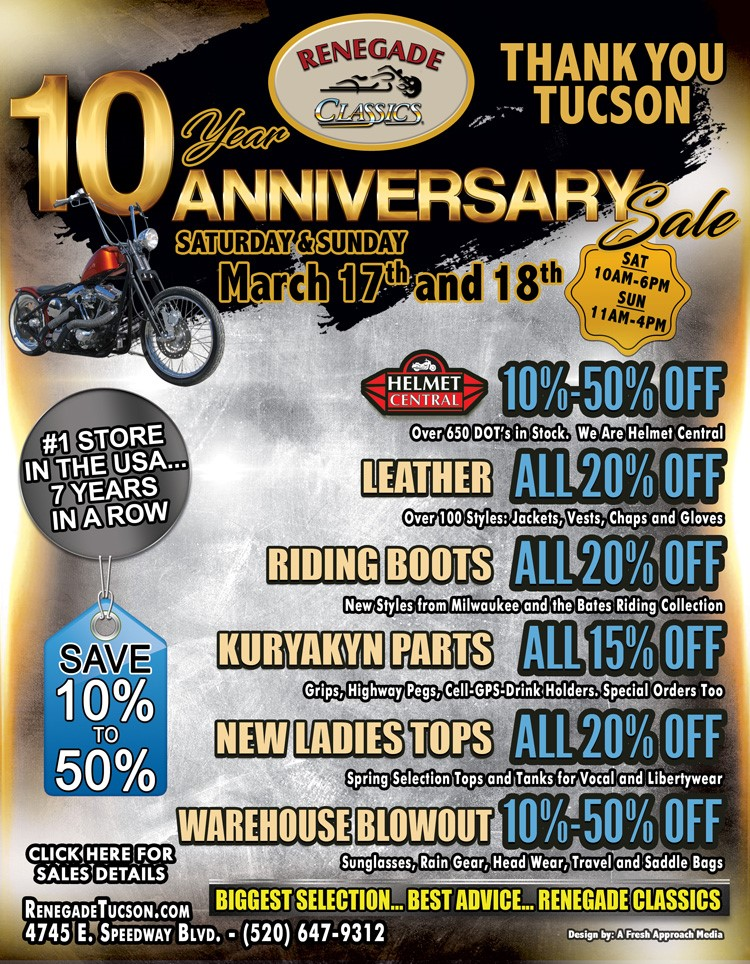 10TH YEAR ANNIVERSARY SALE