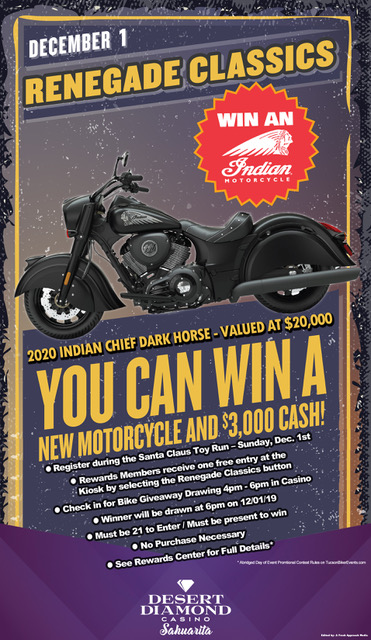 Winning an Indian Chief Motorcycle?
